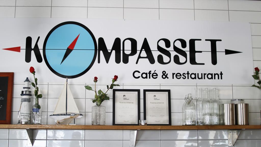 Kompasset Café og restaurant er stengt for sesongen